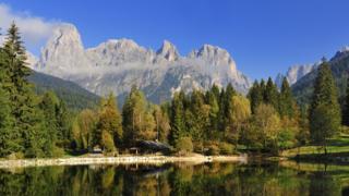Dolomite mountain range