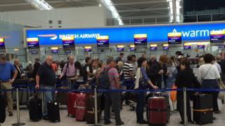 Queue at Heathrow