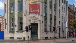 The Bank of Ireland building in Belfast