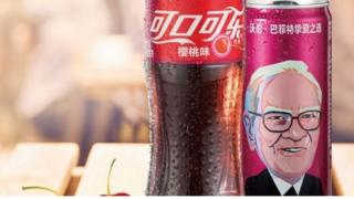 Warren Buffett's face on Cherry Coke can