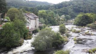 The rapids, Llangollen