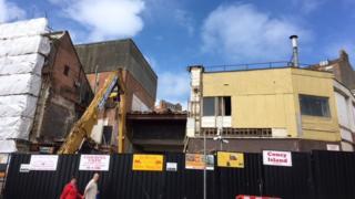 The futurist being demolished