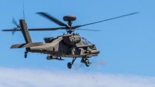 An American Army Apache helicopter