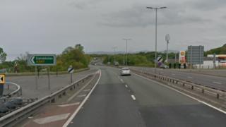 A55 Llanddulas sign