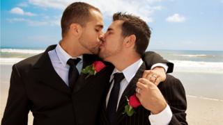gay wedding on beach