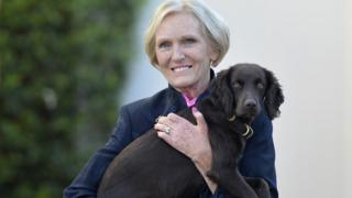 Mary Berry outside her home on 22 September 2016