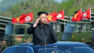 นายคิม จอง อึน ผู้นำเกาหลีเหนือ