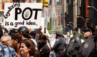 Pro-cannabis legalisation march in New York