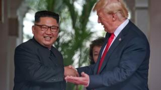 کیم جونگ اون و دونالد ترامپ