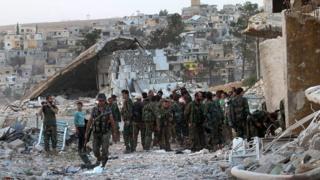 نیروهای دولتی با کمک روسیه موفقیت هایی در اطراف حلب به دست آورده اند