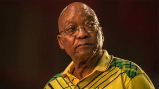 Presiden Jacob Zuma menghadapi 'mosi tidak percaya' dari partainya sendiri