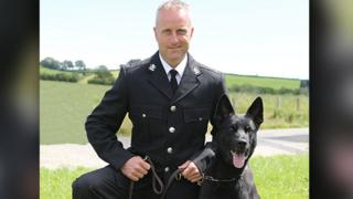 Max and his handler PC Peter Lloyd