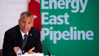 TransCanada President Russ Girling announces the Energy East Pipeline during a 2013 news conference