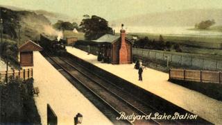 Rudyard Lake Station - postcard