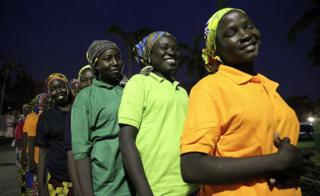 Some of the freed 82 Chibok girls