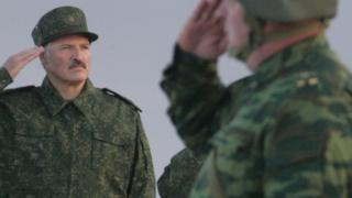 Лукашенко на учениях Запад-2009