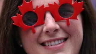 Woman with Canada glasses