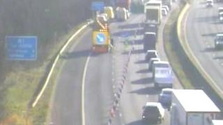 The incident on the M1 in South Yorkshire