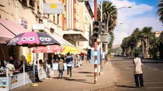 A street scene in Asmara, Eritrea