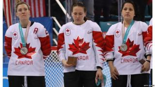 Canada women's ice hockey team wins silver medal at Winter Olympics