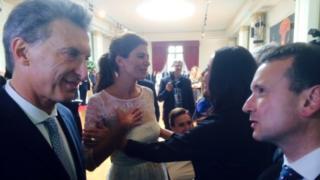Mauricio Macri and Alun Cairns