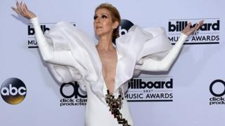 Recording artist Celine Dion poses in the press room during the 2017 Billboard Music Awards at T-Mobile Arena on May 21, 2017