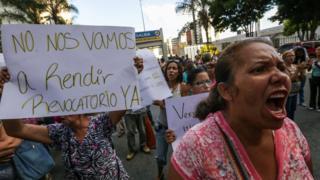 Caracas'ta protesto