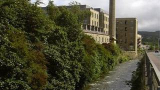 River Irwell in Rawtenstall