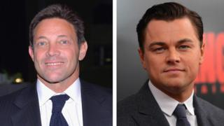 Jordan Belfort and Leonardo DiCaprio