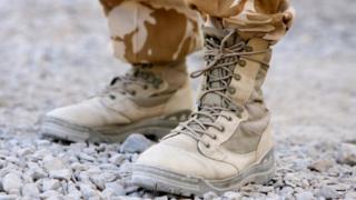 British soldier's boots