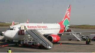 Ndege ya kampuni ya Kenya Airways