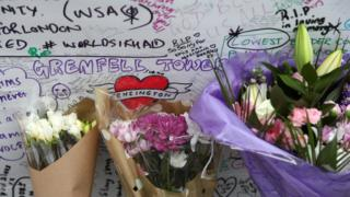 Tributes at Grenfell Tower