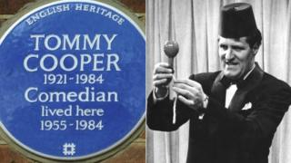 Blue plaque / Tommy Cooper