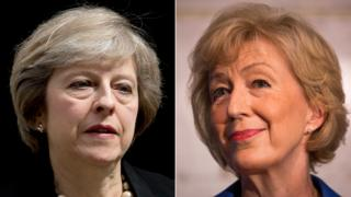 Theresa May and Andrea Leadsom