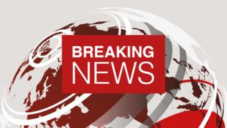 The BBC's breaking news graphic