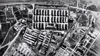 Snimak Aušvica iz vazduha tokom Drugog svetskog rata