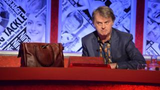 Paul Merton and a leather handbag on Have I Got News For You