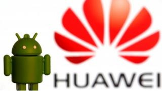 Huawei and Android logos