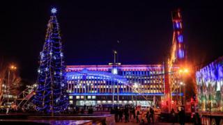 Відкриття новорічної ялинки у Запоріжжі