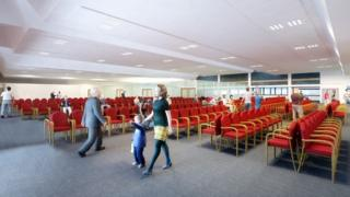 An artist's impression of the new QEII cruise terminal