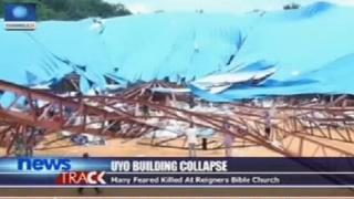 Iglesia destruida en Uyo, Nigeria.