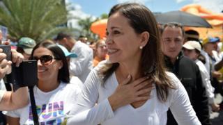 Maria Corina Machado, diputada de la oposición.
