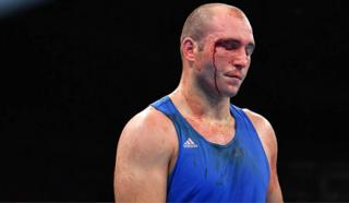 Nistor during his defeat to Iashaish of Jordan in the 2016 Olympics