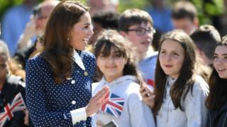 The Duchess of Cambridge visiting Bletchley Park