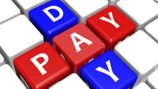 """Letters spelling out """"payday"""""""
