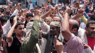 تظاهرات في عدن