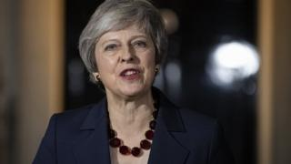 British Prime Minister, Theresa May delivers a Brexit statement on Downing Street on November 14, 2018 in London, England - Brexit