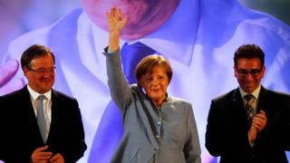 Angela Merkel campaigns in Bonn