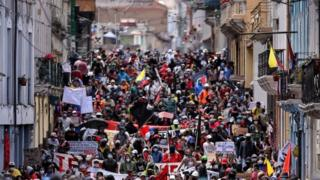 Coronavirus: Ecuador protests against cuts amid pandemic thumbnail