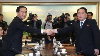 उत्तर कोरिया और दक्षिण कोरिया